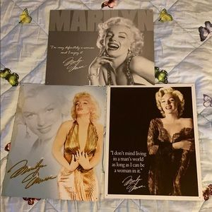 Lot of 3 Marilyn Monroe metal pictures wall art